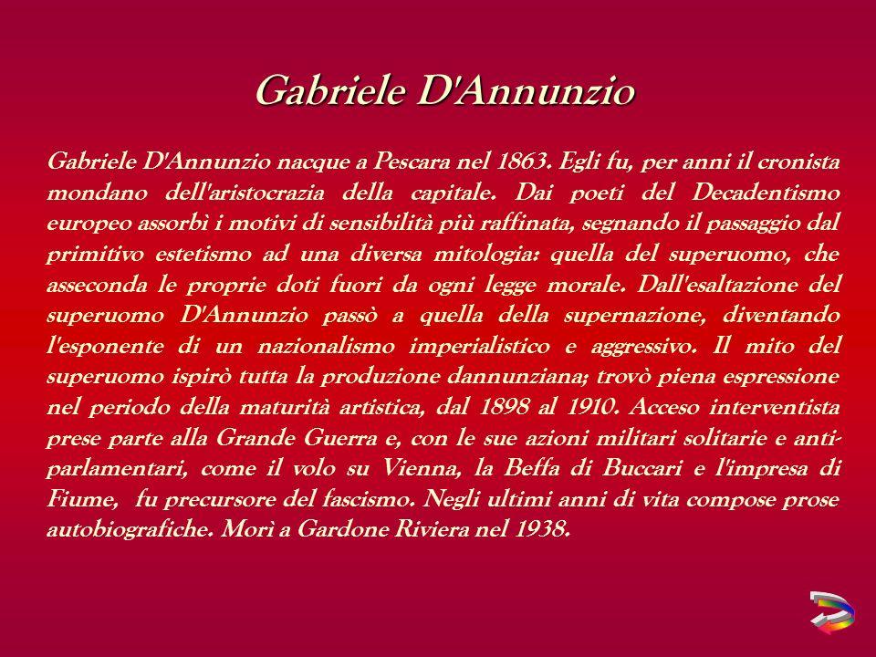 Gabriele D Annunzio