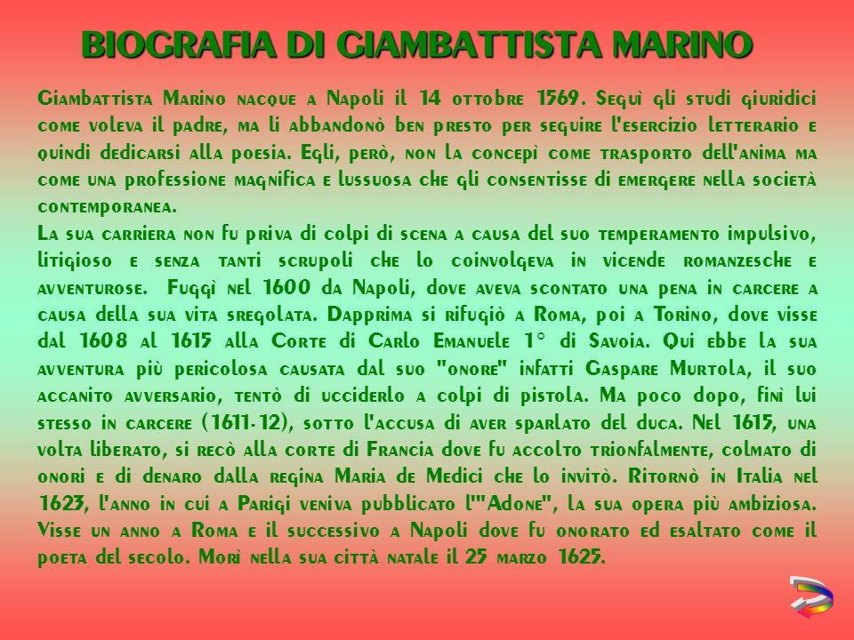 BIOGRAFIA DI GIAMBATTISTA MARINO