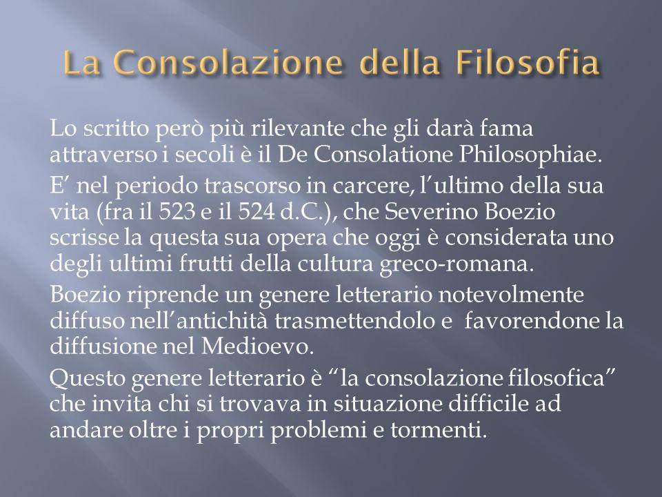 La Consolazione della Filosofia
