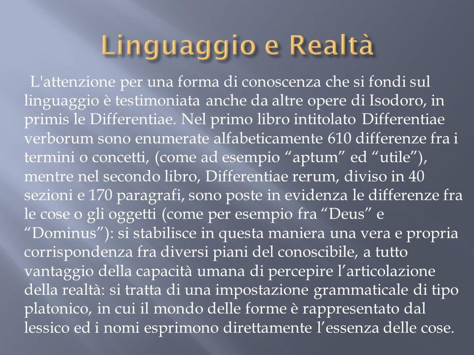 Linguaggio e Realtà