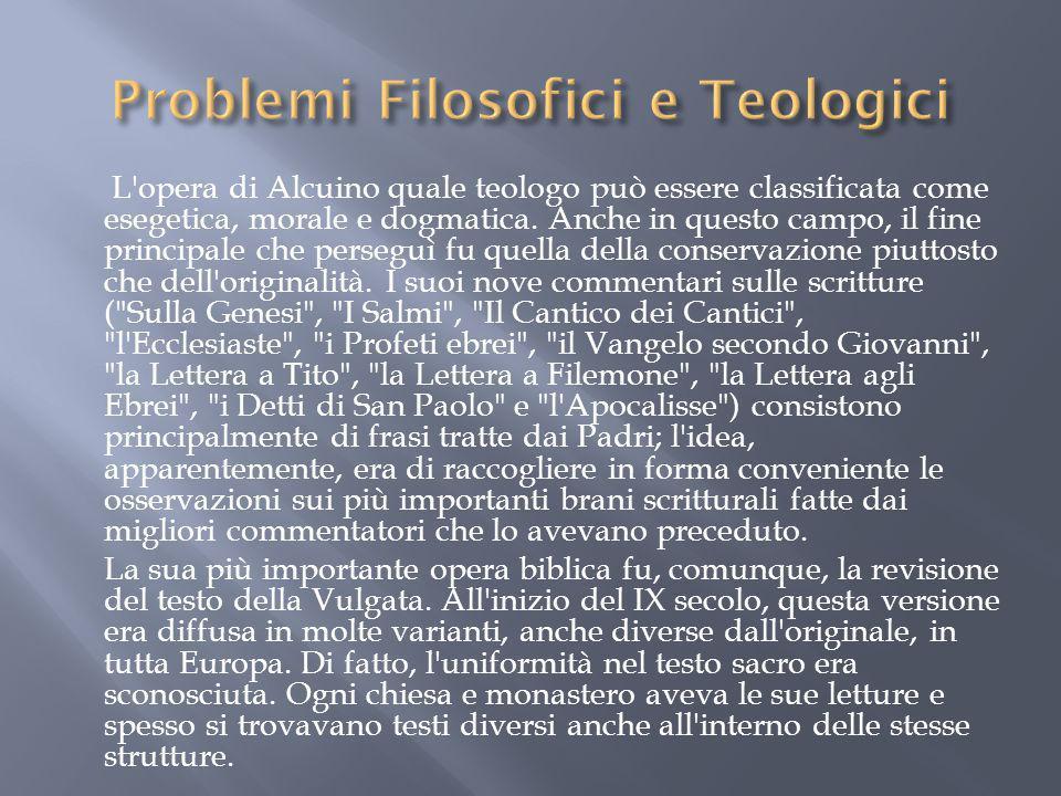 Problemi Filosofici e Teologici