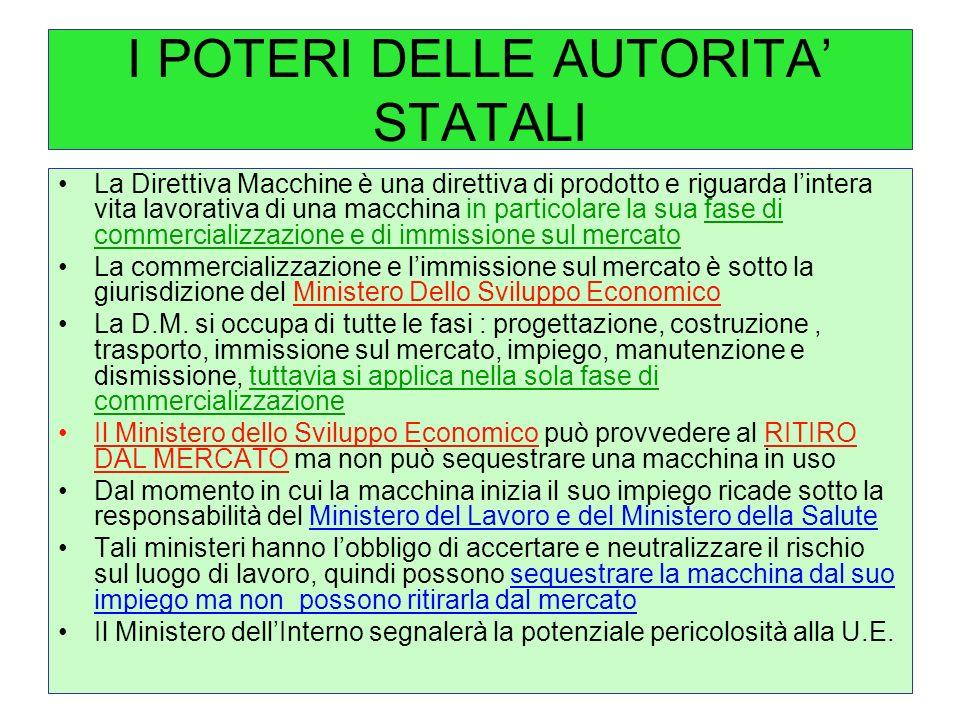 I POTERI DELLE AUTORITA' STATALI