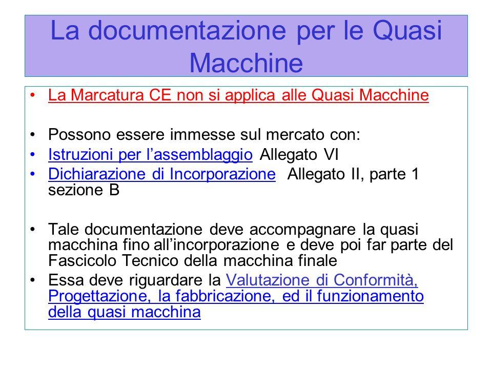 La documentazione per le Quasi Macchine