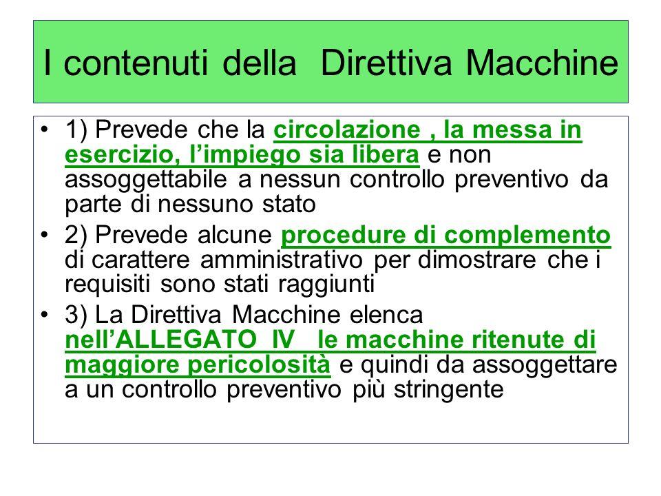 I contenuti della Direttiva Macchine