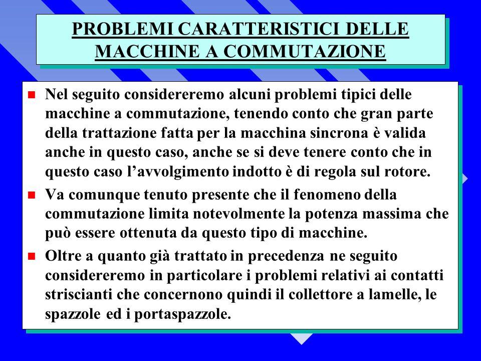 PROBLEMI CARATTERISTICI DELLE MACCHINE A COMMUTAZIONE