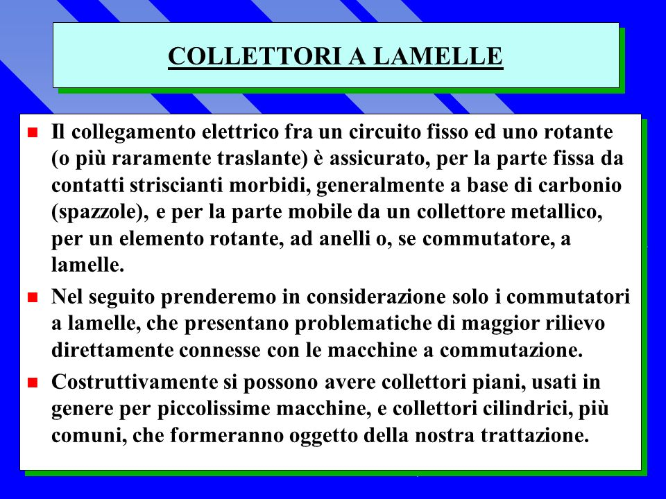 COLLETTORI A LAMELLE