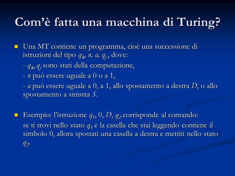 Com'è fatta una macchina di Turing