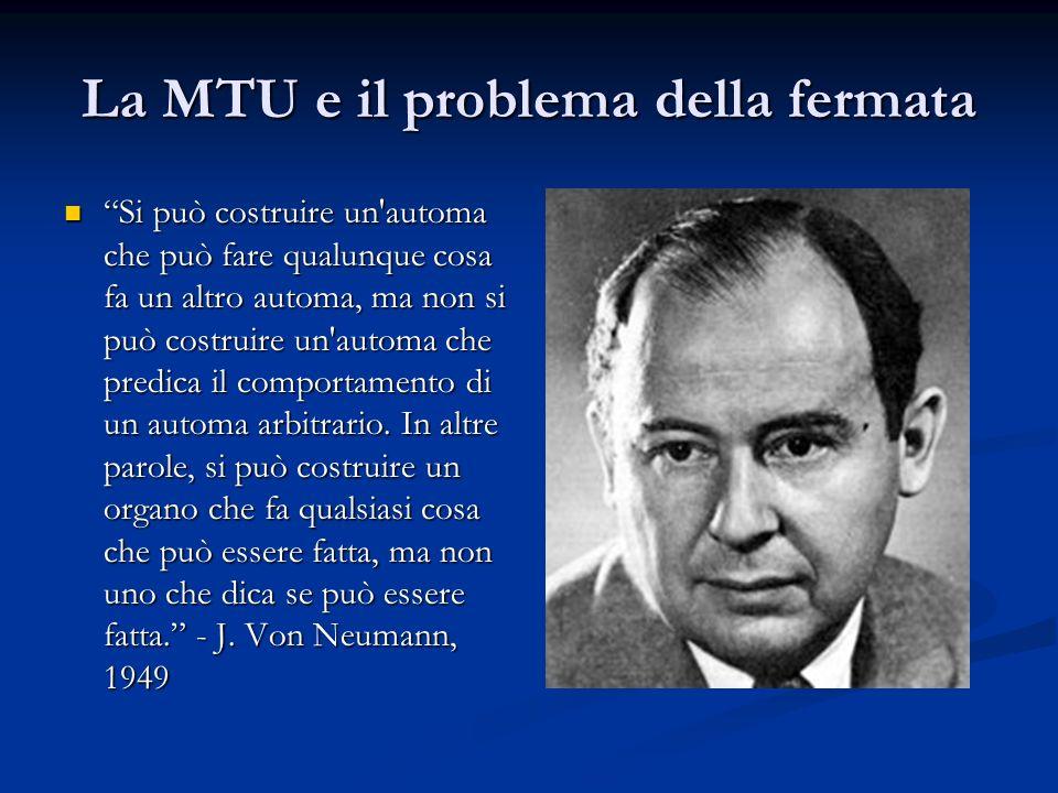 La MTU e il problema della fermata