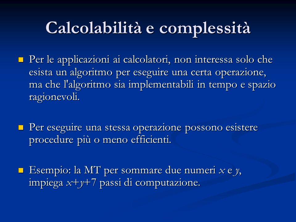 Calcolabilità e complessità