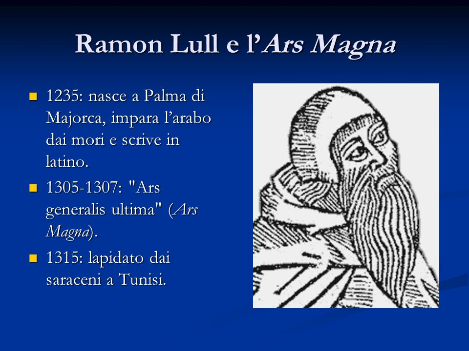 Ramon Lull e l'Ars Magna
