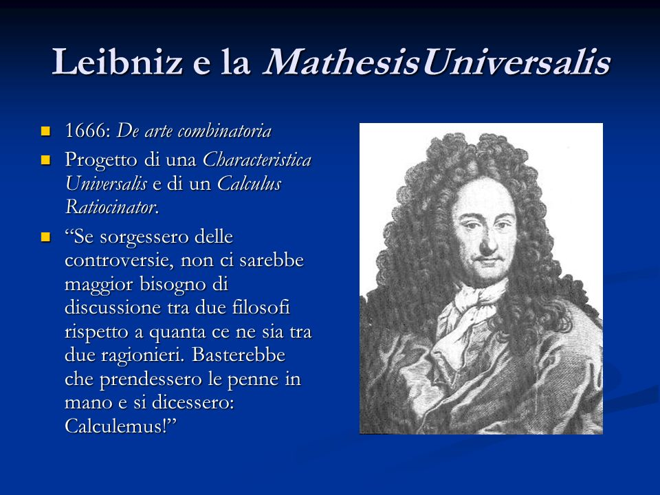Leibniz e la MathesisUniversalis