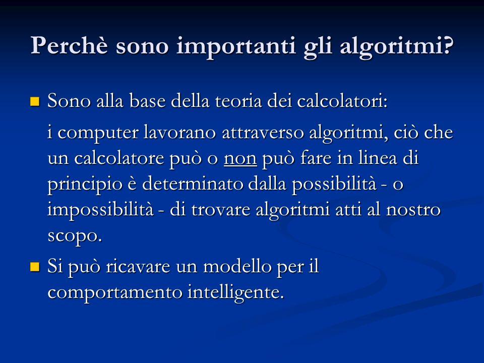 Perchè sono importanti gli algoritmi