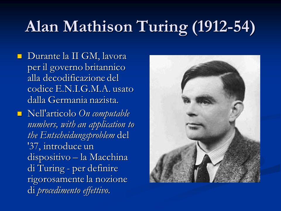 Alan Mathison Turing (1912-54)