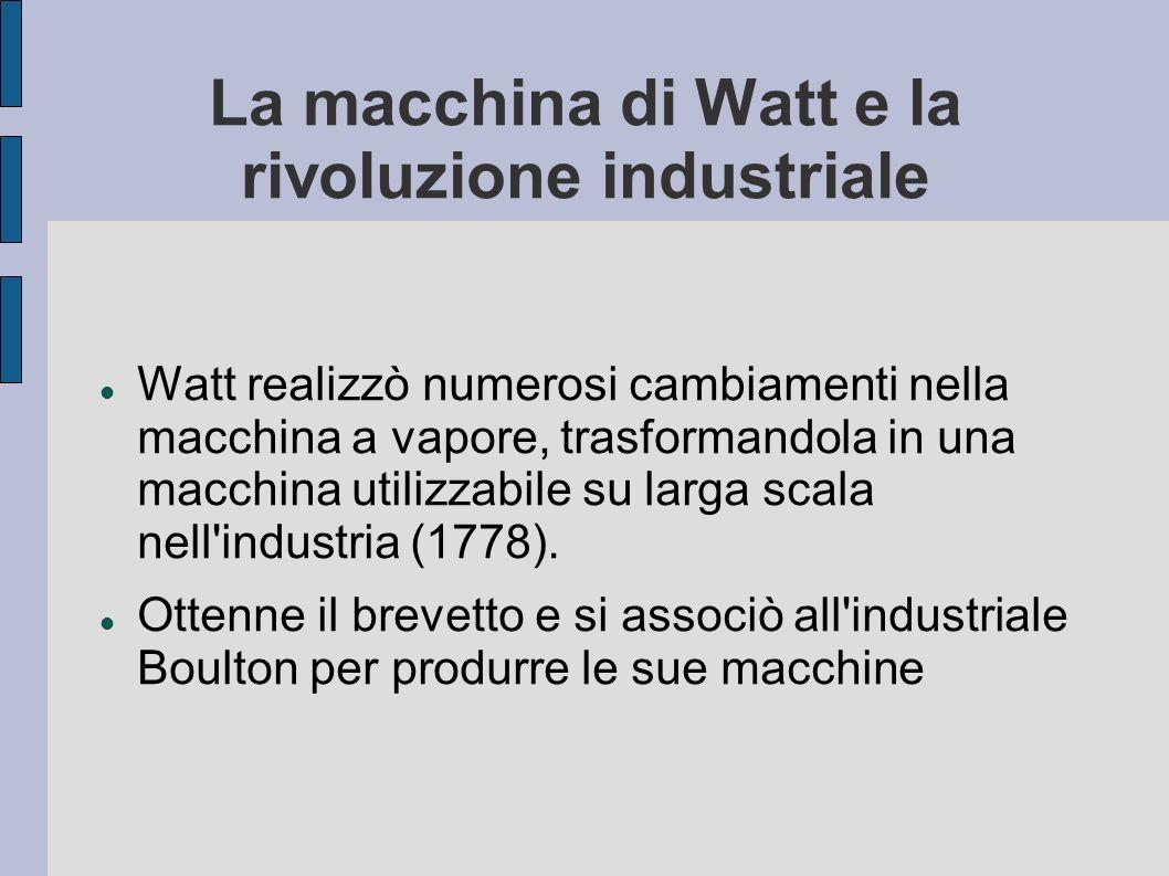 La macchina di Watt e la rivoluzione industriale