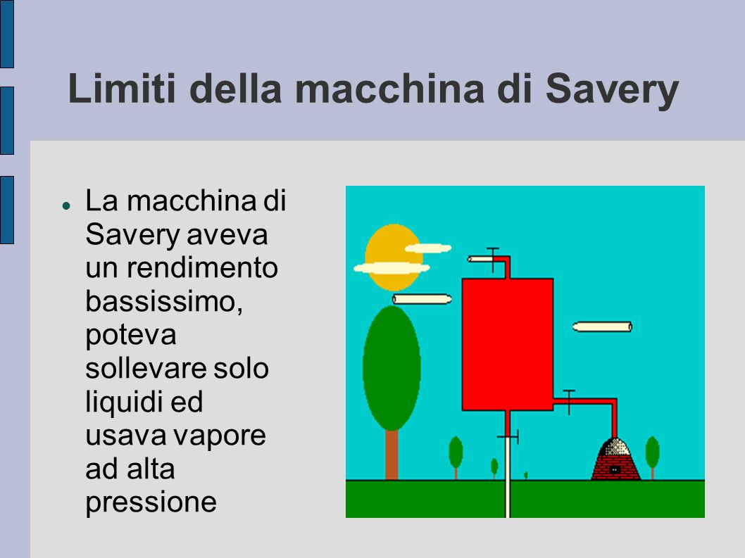Limiti della macchina di Savery
