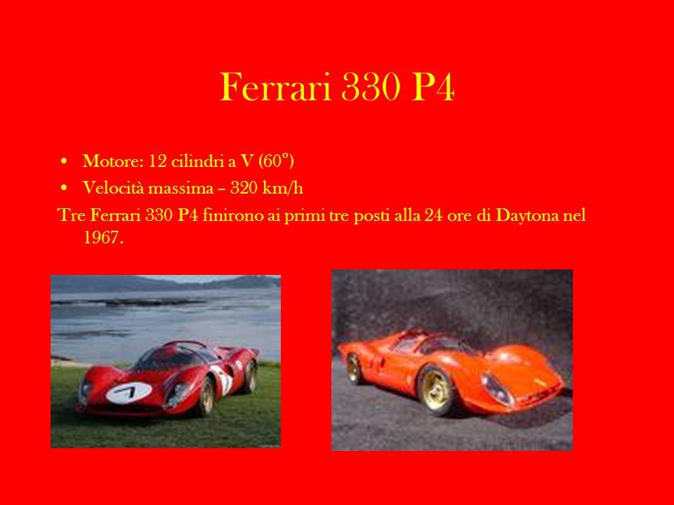 Ferrari 330 P4 Motore: 12 cilindri a V (60°)