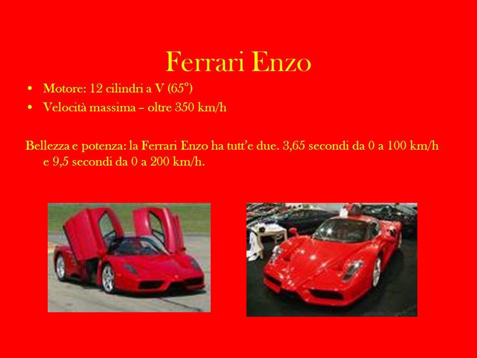Ferrari Enzo Motore: 12 cilindri a V (65°)