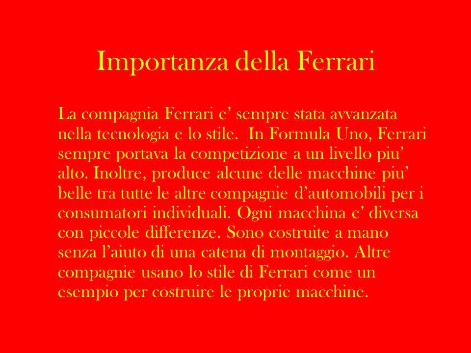 Importanza della Ferrari