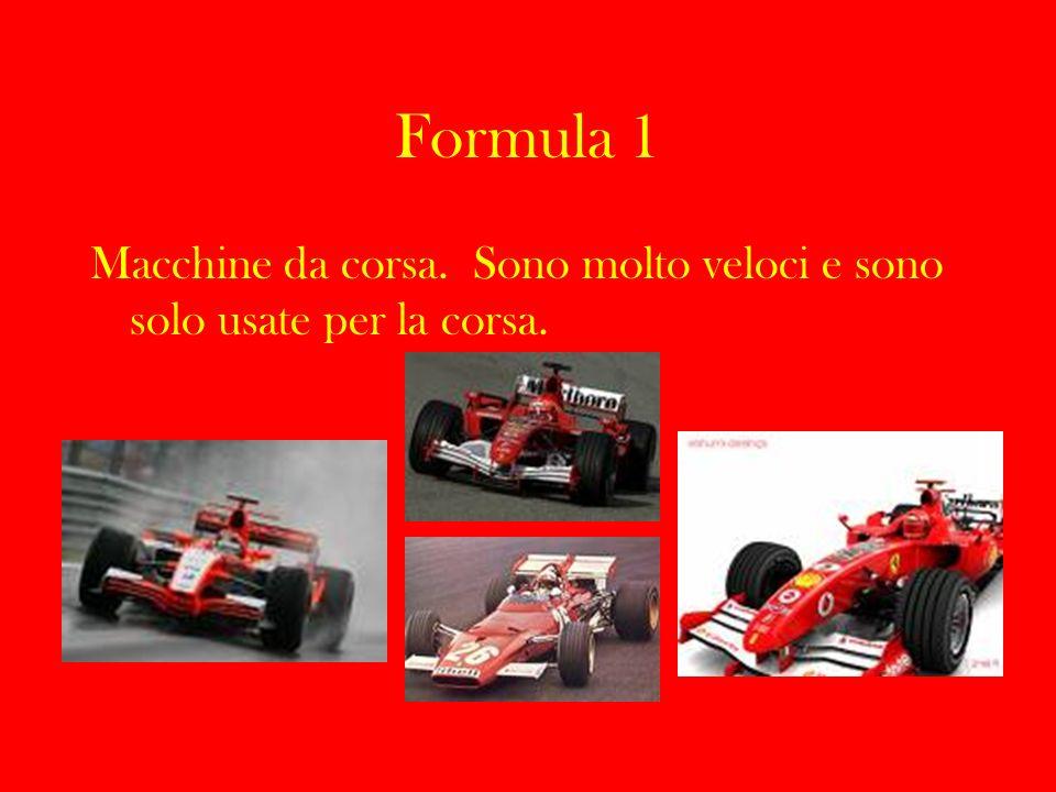 Formula 1 Macchine da corsa. Sono molto veloci e sono solo usate per la corsa.