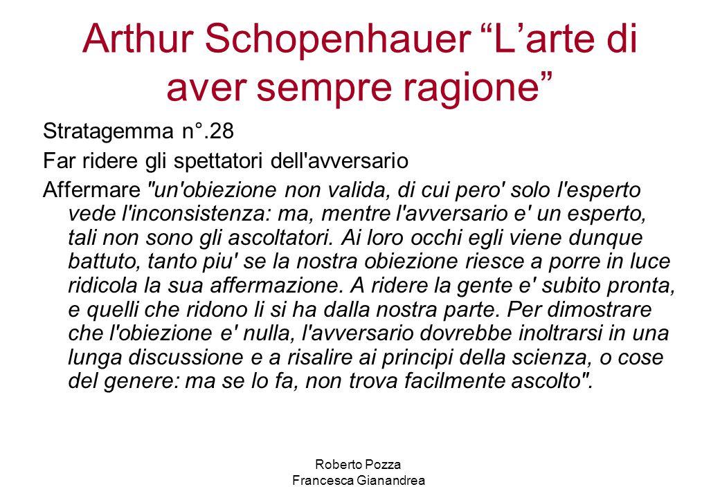 Arthur Schopenhauer L'arte di aver sempre ragione