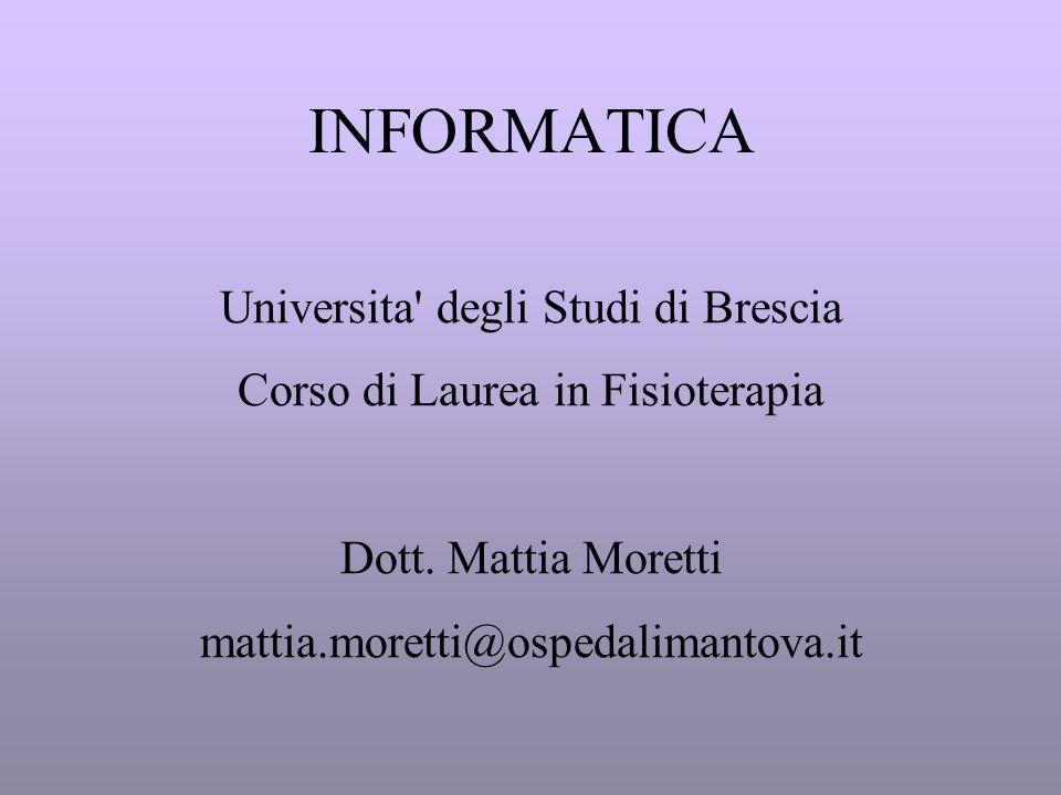 INFORMATICA Universita degli Studi di Brescia