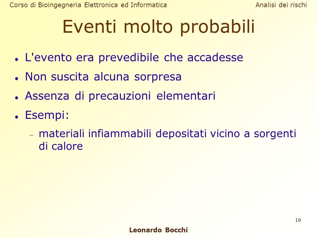 Eventi molto probabili