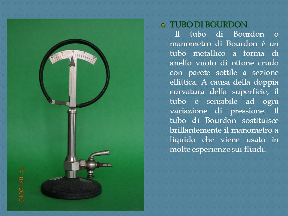 TUBO DI BOURDON