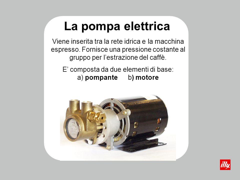 E' composta da due elementi di base: a) pompante b) motore