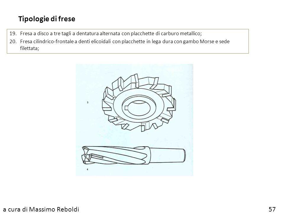 Tipologie di frese a cura di Massimo Reboldi