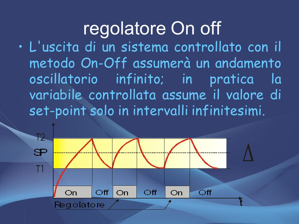regolatore On off