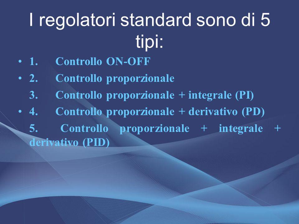 I regolatori standard sono di 5 tipi:
