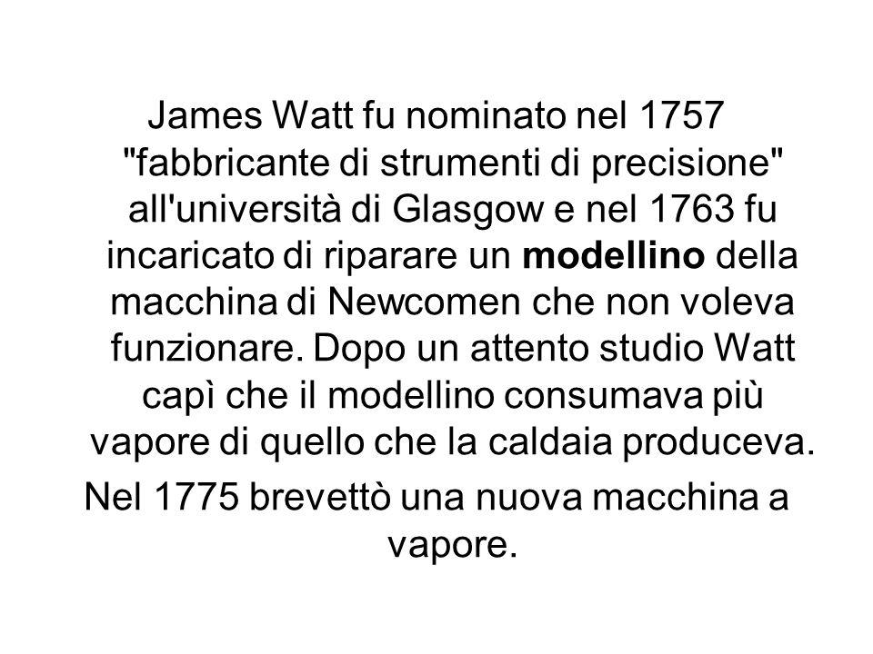 Nel 1775 brevettò una nuova macchina a vapore.