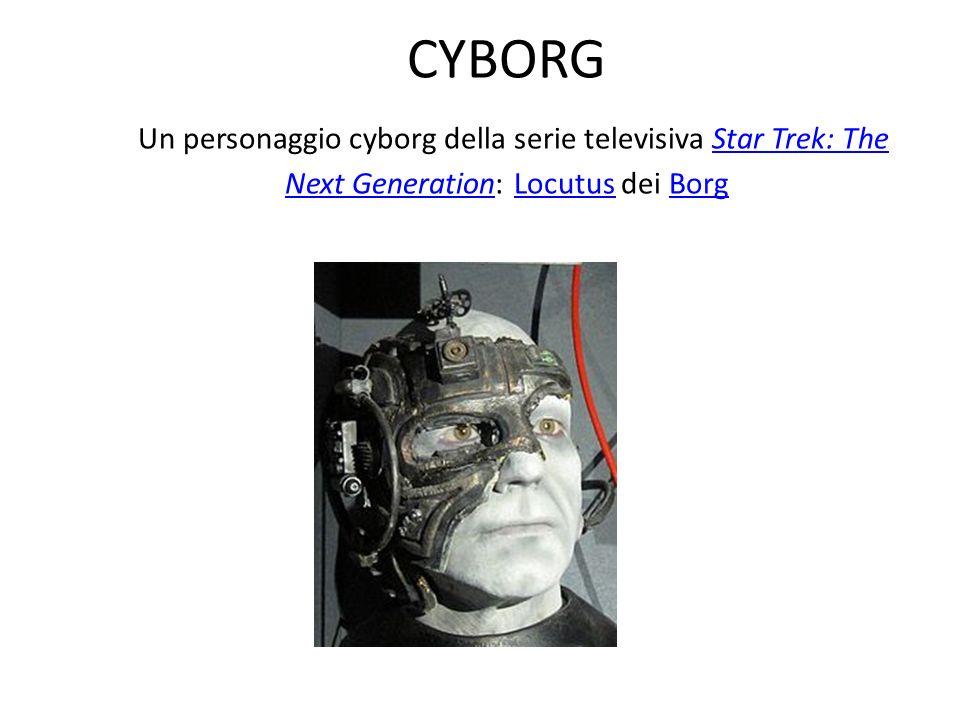 CYBORG Un personaggio cyborg della serie televisiva Star Trek: The Next Generation: Locutus dei Borg