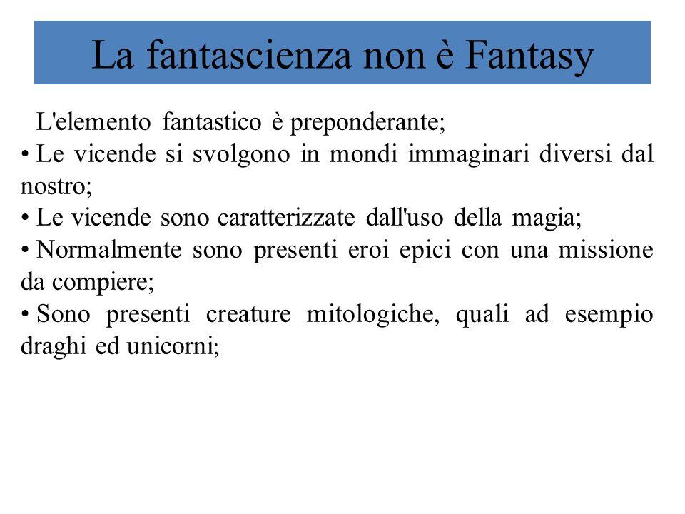 La fantascienza non è Fantasy