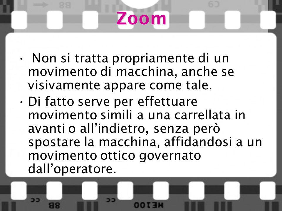 Zoom Non si tratta propriamente di un movimento di macchina, anche se visivamente appare come tale.