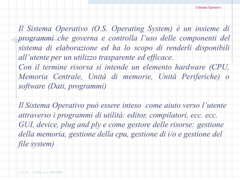 Il Sistema Operativo (O. S