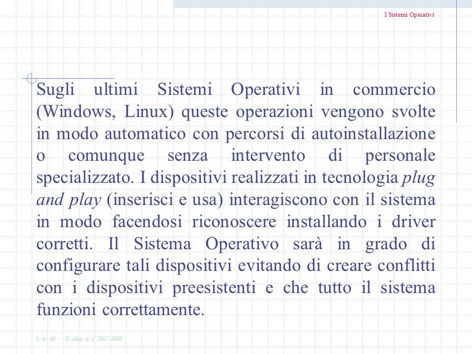 Sugli ultimi Sistemi Operativi in commercio (Windows, Linux) queste operazioni vengono svolte in modo automatico con percorsi di autoinstallazione o comunque senza intervento di personale specializzato.