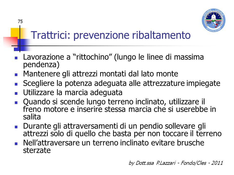 Trattrici: prevenzione ribaltamento