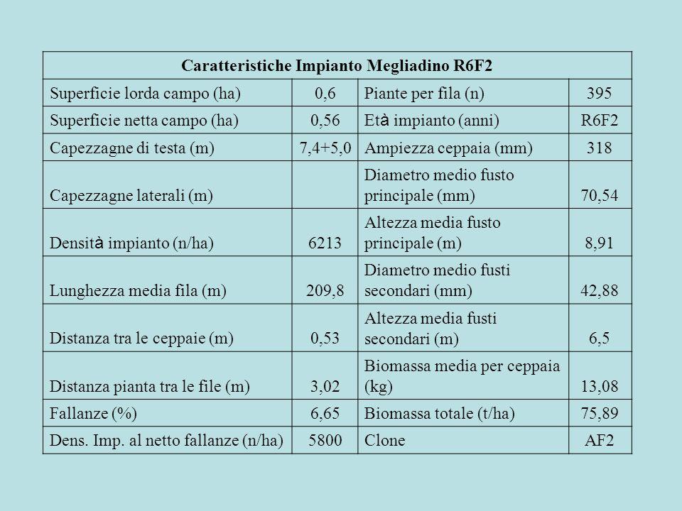 Caratteristiche Impianto Megliadino R6F2