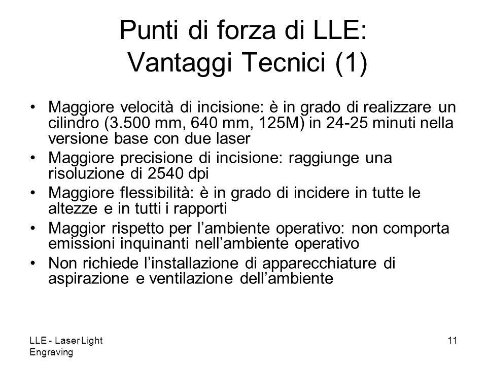 Punti di forza di LLE: Vantaggi Tecnici (1)