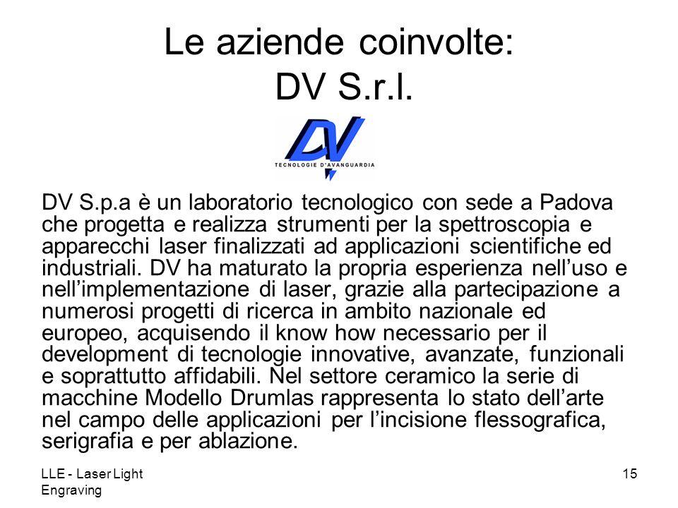 Le aziende coinvolte: DV S.r.l.