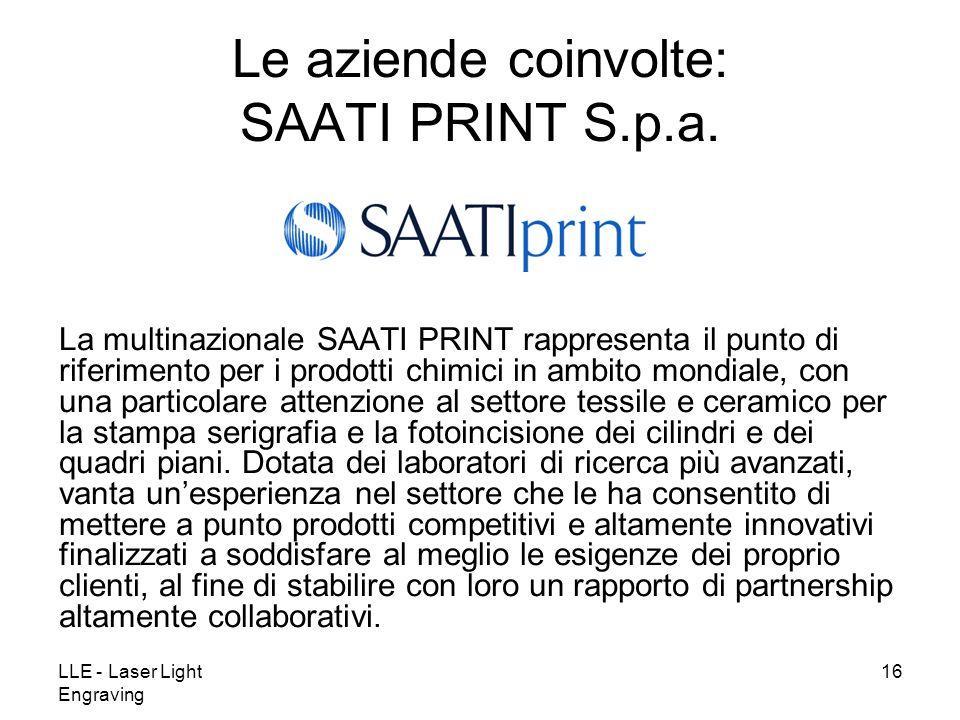 Le aziende coinvolte: SAATI PRINT S.p.a.