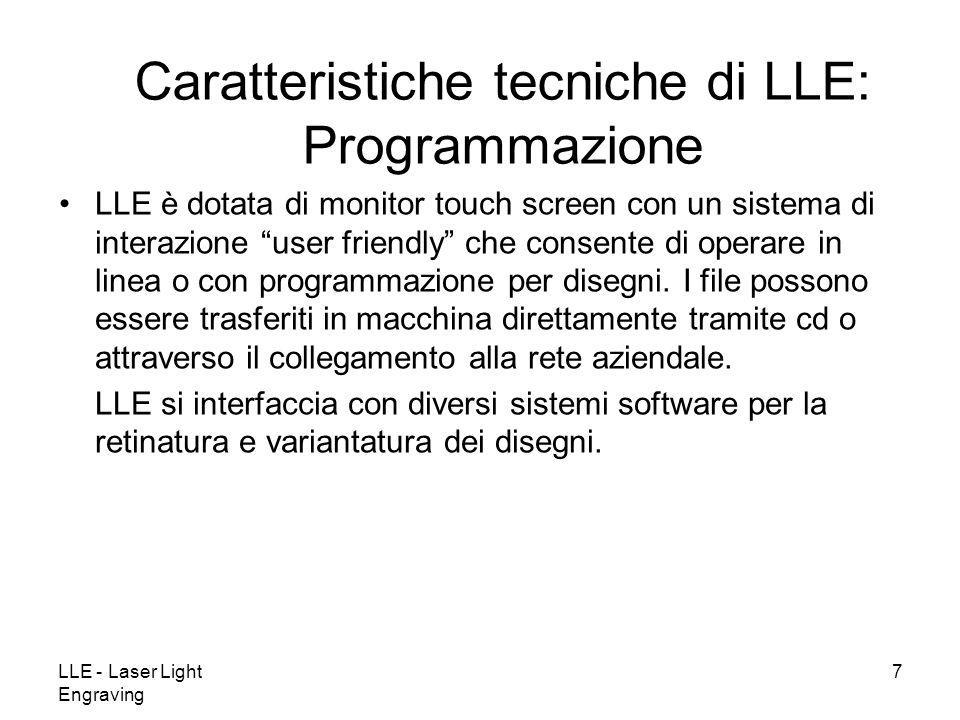 Caratteristiche tecniche di LLE: Programmazione