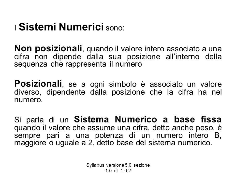 Syllabus versione 5.0 sezione 1.0 rif 1.0.2