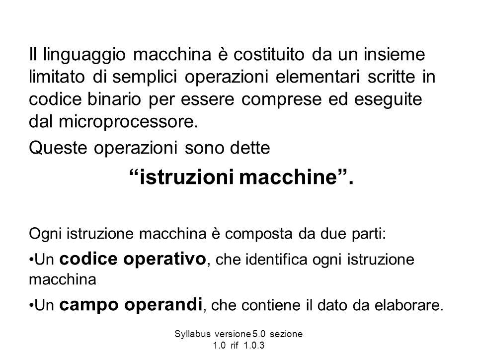 istruzioni macchine .