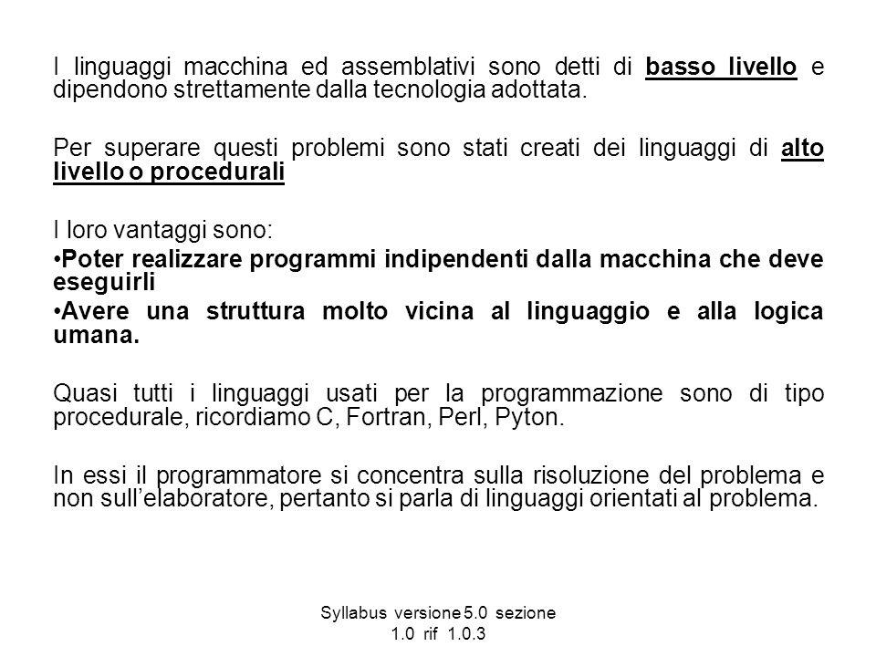 Syllabus versione 5.0 sezione 1.0 rif 1.0.3