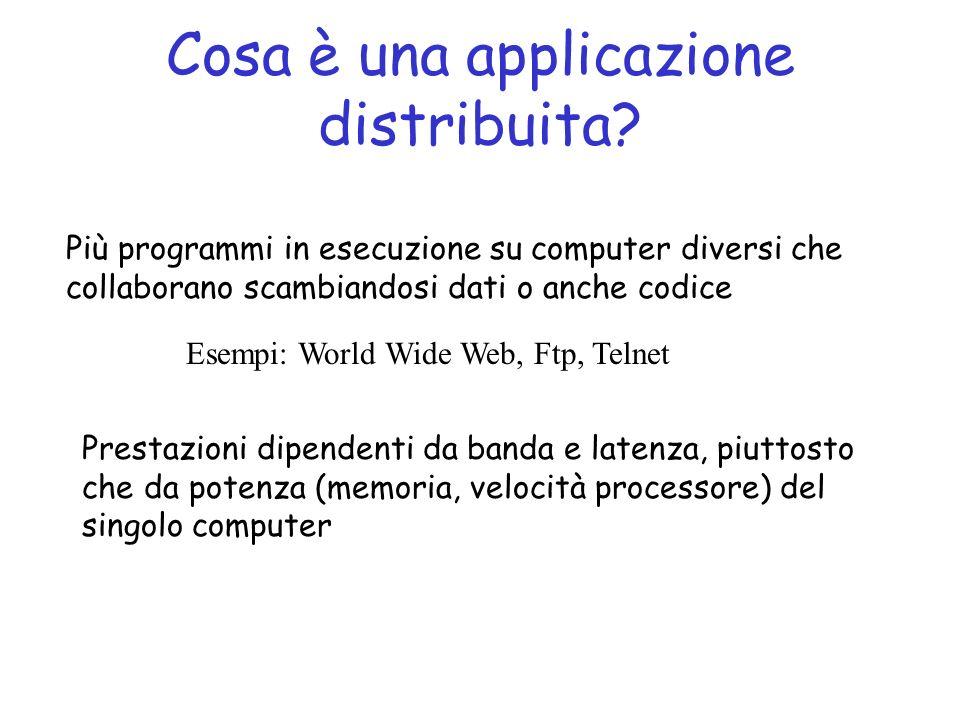 Cosa è una applicazione distribuita
