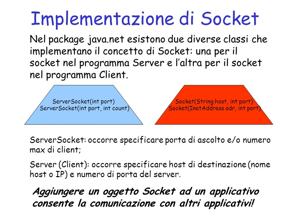 Implementazione di Socket