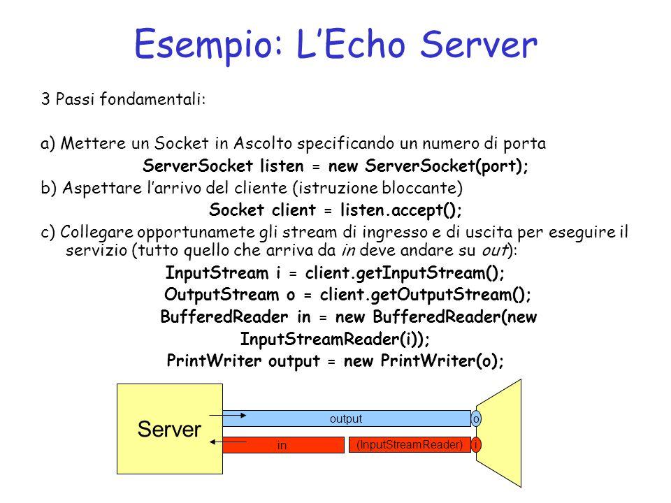 Esempio: L'Echo Server