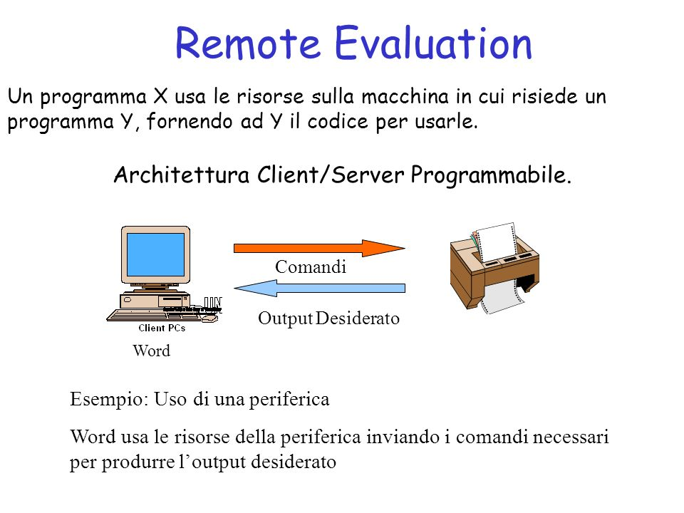 Architettura Client/Server Programmabile.